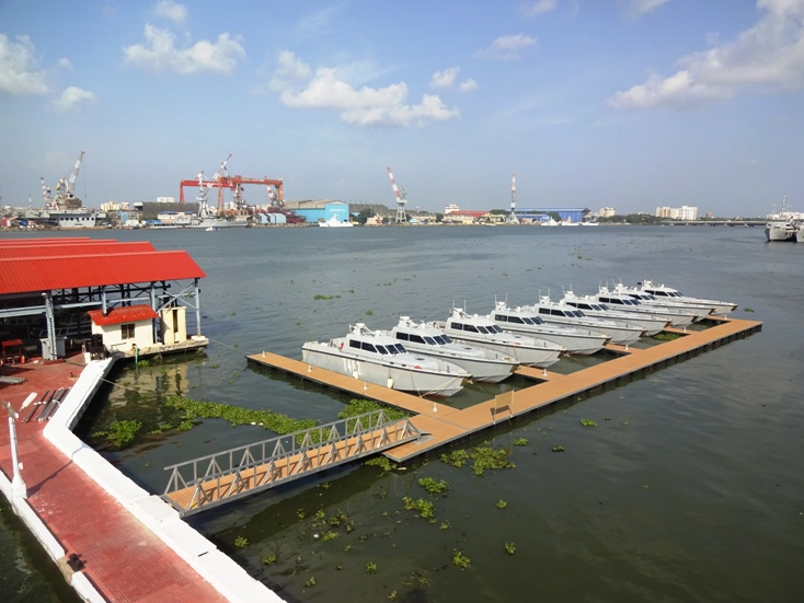 Floating 'Marina' for Fast Interceptor Crafts (FICs) at Naval Base Kochi