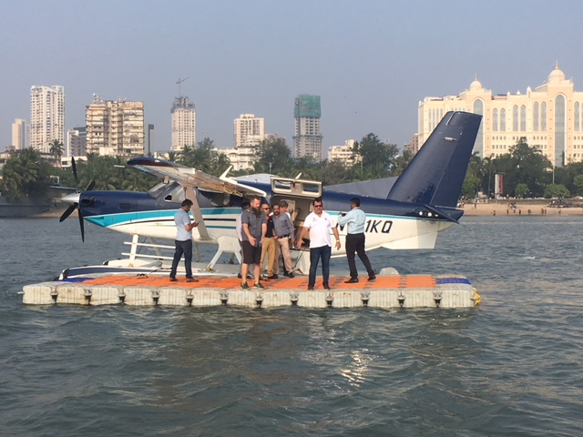 Floating Platform for Spice Jet Sea Plane Landing in Marine Drive Bay – Mumbai