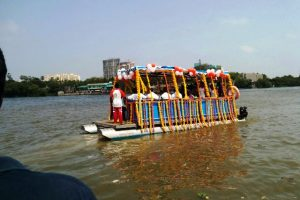 HDPE Floating Dock, Elevated Walkway & Pontoon Boat for Ferry Service from 'Versova' to 'Madh', Mumbai